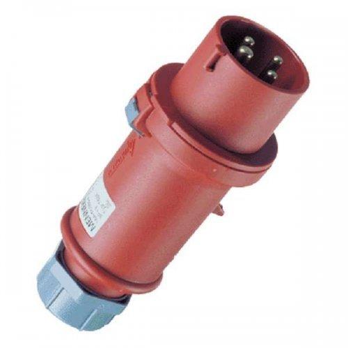 Вилка кабельная 32А 4п 6ч 400В IP44 разборная StarTOP ножевые клеммы SafeCONTACT красн. Mennekes 719