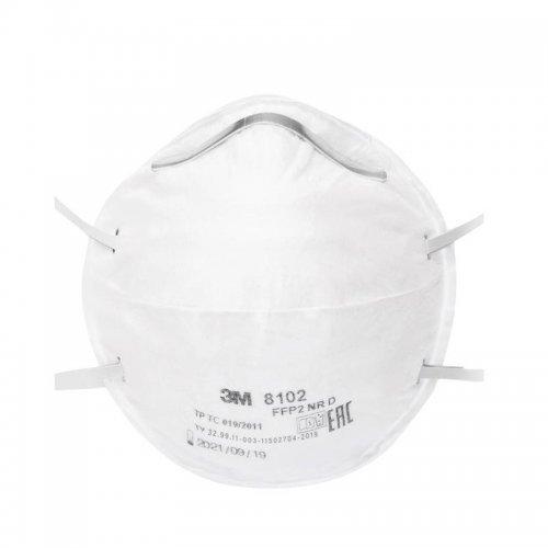 Полумаска противоаэрозольная фильтрующая модель 8102 класс защиты FFP2 NR D 3М 7100050786