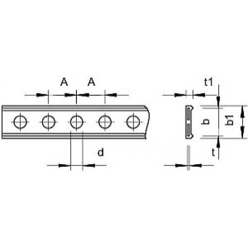 Лента монтажная перфорированная 19х3мм 5055 L PE II 19 OBO 1473271