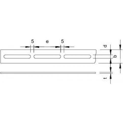 Лента монтажная перфорированная 30х4мм OSS 30х3 3M FT (дл.3м) OBO 1465805