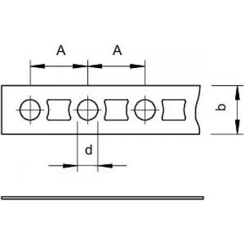 Лента монтажная перфорированная 12х1мм 5055 I12 FS OBO 1470124