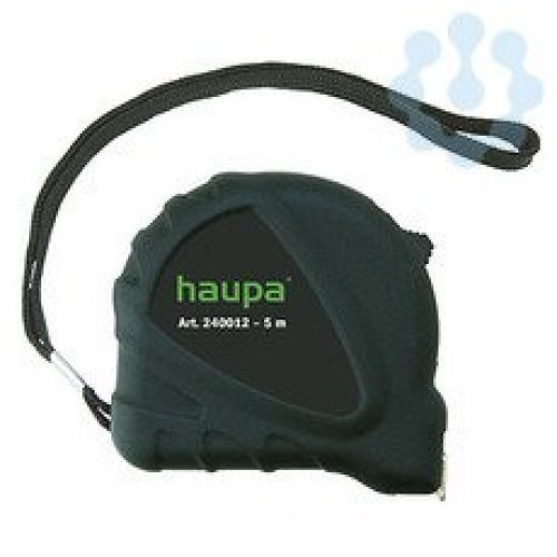 Рулетка 5м с фиксатором HAUPA 240012