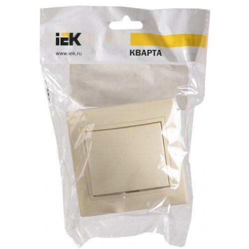 Выключатель 1-кл. СП КВАРТА 10А IP20 ВС10-1-0-ККм крем. ИЭК EVK10-K33-10-DM