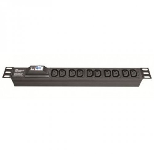 Блок розеток для 19 шкафов, 8 розеток IEC60320 С13, автомат защиты 1Р