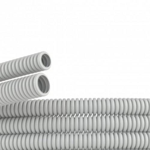 Труба гофрированная ПВХ 25 мм без протяжки легкая серая (50м)