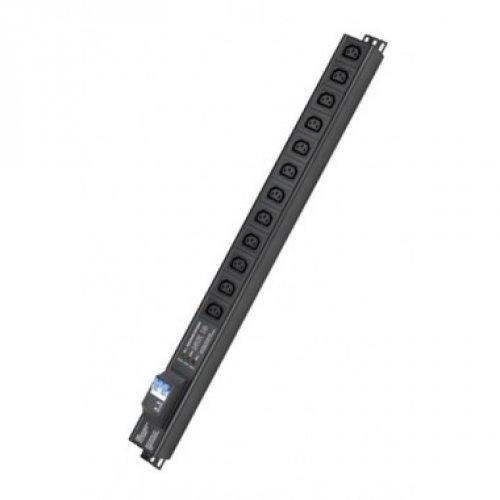 Блок распределения питания вертикальный для 19дюйм шкафов, 10A12 Х С13,сетевой фильтр, индикация, вх. разъём С14