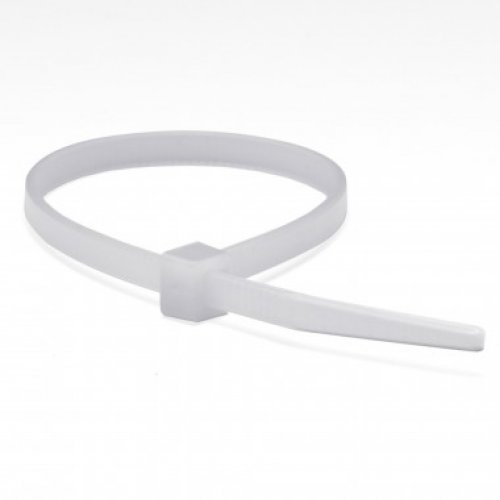 Хомут кабельный 4.8х290 полиамид бел. (уп.100шт) ДКС 25217