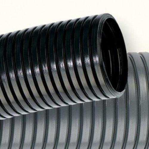 Труба гофрированная ПА d12мм с протяж. черн. (уп.50м) ДКС PA611216F2