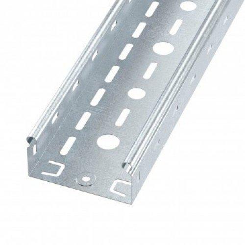 Лоток листовой перфорированный 100х50 L3000 сталь 0.6мм S3 ДКС SPL3510