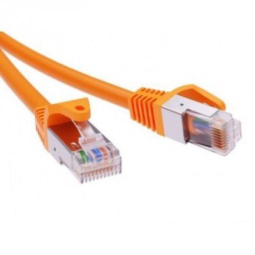 Патч-корд экранированный CAT6A F/UTP 4х2 LSZH оранжевый 10м