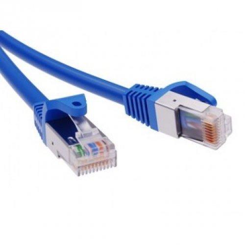 Патч-корд экранированный CAT6 F/UTP 4х2 LSZH синий 1.5м