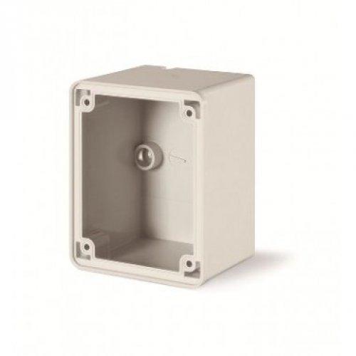 Коробка для настенного монтажа розеток с фланцем 84x106мм