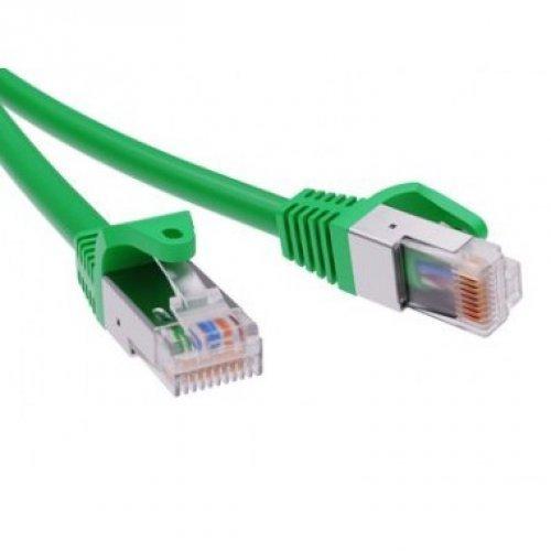 Патч-корд экранированный CAT6 F/UTP 4х2 LSZH зелёный 5м