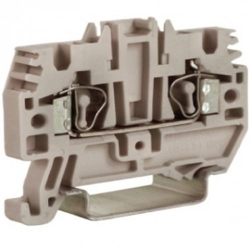 Клемма пруж. HMM.2/GR 2.5кв.мм сер. ДКС ZHM500GR