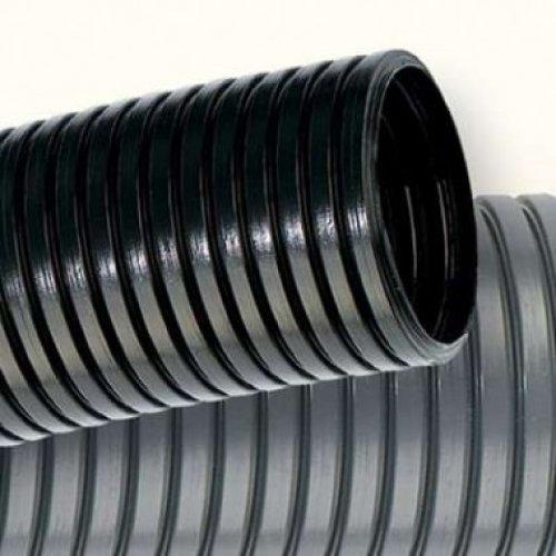 Труба гофрированная DN36мм ПВ-2 диаметр внутренний/наружный 363 мм/425 мм полиамид 6 чёрный бухта 32м