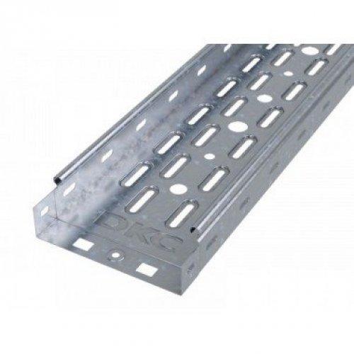 Лоток листовой перфорированный 100х50 L3000 сталь 0.7мм ДКС 35262