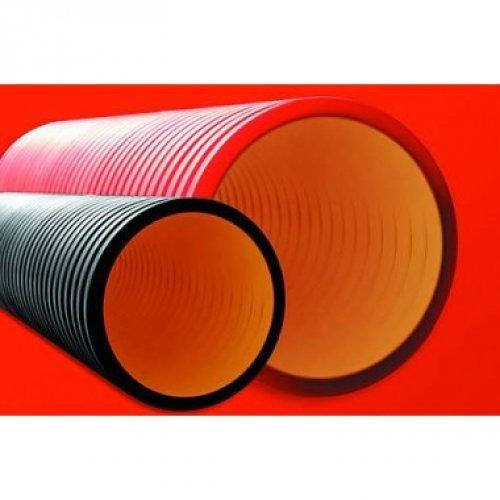 Труба жесткая двустенная для кабельной канализации(10 кПа) 125мм 5.7м черный