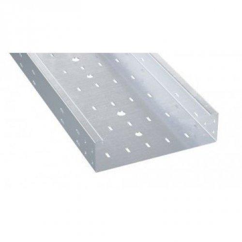 Лоток листовой перфорированный 100х500 L3000 2мм нерж. сталь AISI 304 DKC ISH1050C