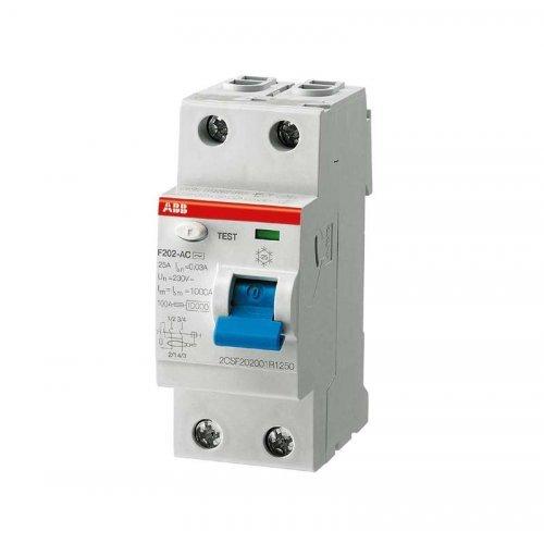 Выключатель дифференциального тока (УЗО) 2модуля F202 A S-63/0.1