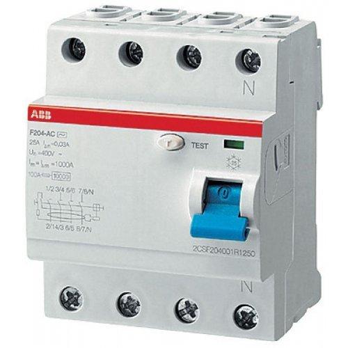 Выключатель дифференциального тока (УЗО) 4п 40А 30мА F204 А