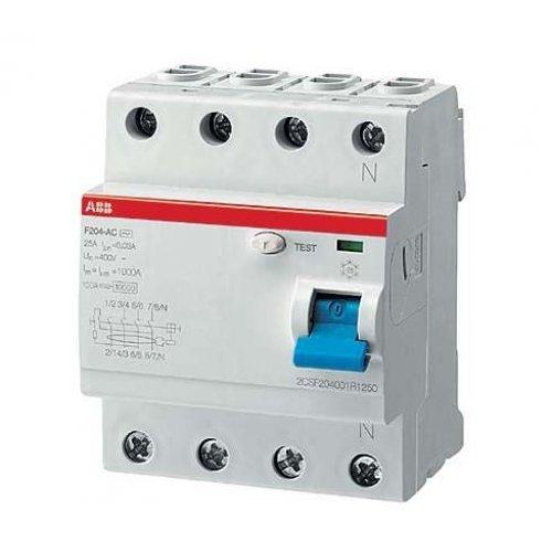 Выключатель дифференциального тока (УЗО) 4п 25А 100мА F204 АС