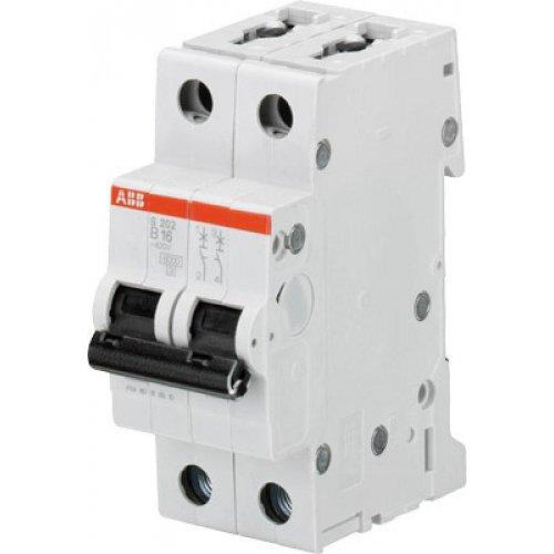 Выключатель автоматический двухполюсный 16А B S202 6кА