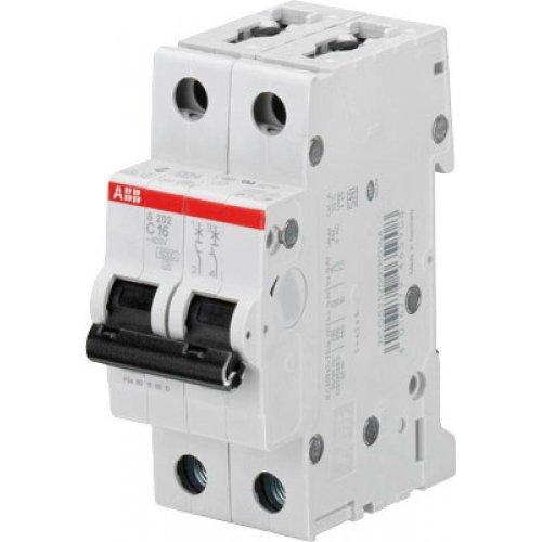 Выключатель автоматический двухполюсный 1А С S202 6кА