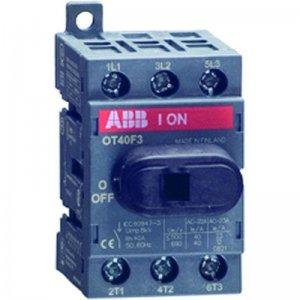 Рубильник 4п OT40F4N2 40А (23А AC23) для установки на DIN-рейку или монтажную плату (с резерв. ручкой) ABB 1SCA104932R1001