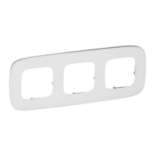 Рамка 3-м Valena Allure универсальная бел. стекло Leg 755543