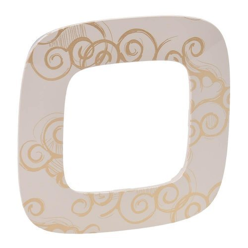 Рамка 1-м Valena Allure универсальная нарцисс золото Leg 754351