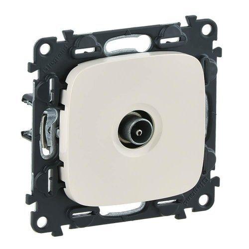 Механизм розетки TV Valena Allure оконечная 10дБ 0-862МГц с лицевой панелью сл. кость Leg 753860