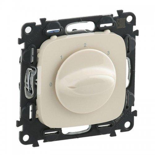 Механизм выключателя вентилятора 4-позиц. Valena Allure с лиц. панелью винт. зажимы сл. кость Leg 755176