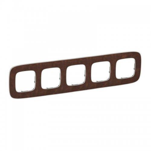 Рамка 5-м Valena Allure универсальная кожа Leg 754455
