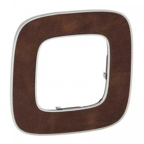 Рамка 1-м Valena Allure универсальная кожа Leg 754451