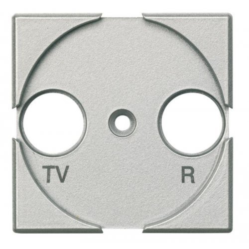 Панель лицевая для роз. TV + FM Axolute алюм. Leg BTC HC4204