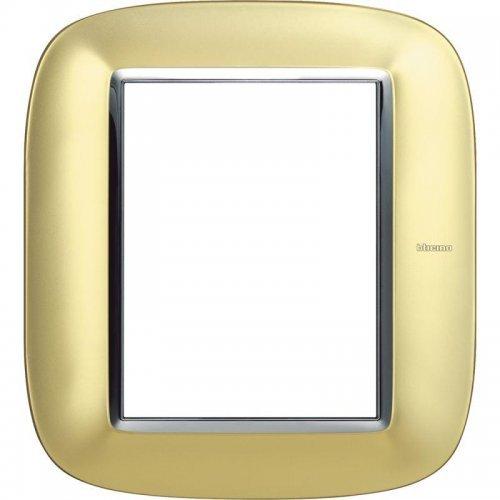 Рамка 3+3мод. Axolute овальная матовое золото Leg BTC HB4826OSN
