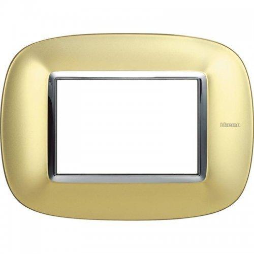 Рамка 3-м Axolute овальная матовое золото Leg BTC HB4803OSN