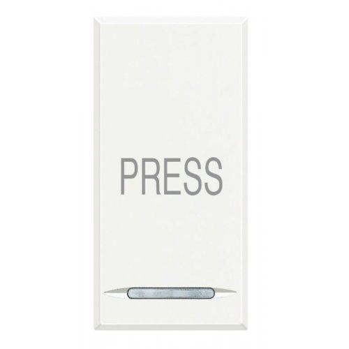 "Кнопка 10А с символом ""Press"" Axolute бел. Leg BTC HD4055P"