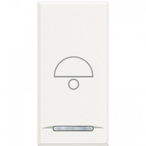 """Кнопка 10А с символом """"лампа"""" Axolute бел. Leg BTC HD4055B"""