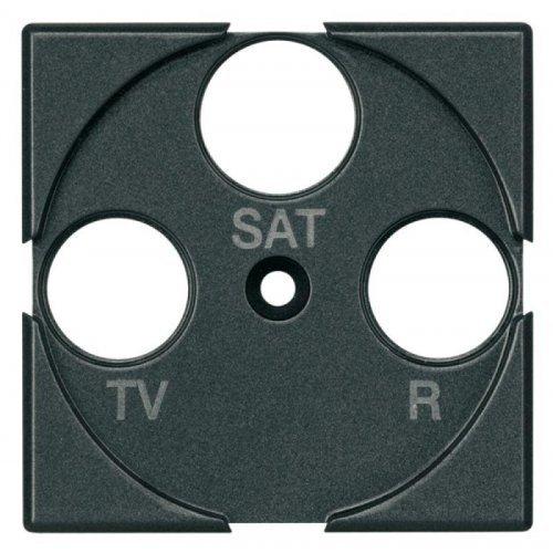 Панель лицевая для роз. TV + FM + SAT Axolute антрацит Leg BTC HS4207