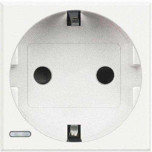 Розетка Axolute 10/16А 250В 2К+3 с боковыми зазем. конт. Schuko с экранированными контактами нем. станд. бел. Leg BTC HD4141