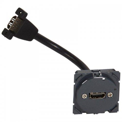 Механизм розетки аудио/видео 1-м СП HDMI с кабелем Celiane Leg 067377
