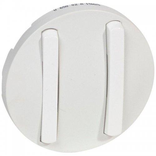 Накладка выкл. 2-кл. Celiane slim бел. Leg 065002