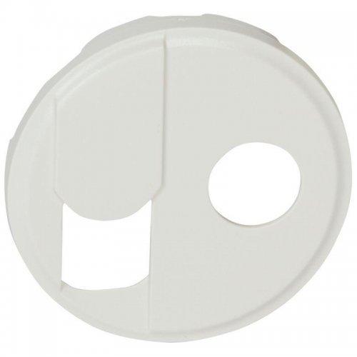 Панель лицевая Celiane для роз. тел. RJ+TV бел. Leg 068239