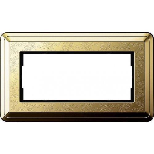 Рамка 2-модульная Gira ClassiX Art латунь 1002671
