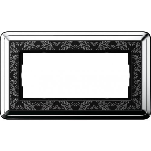 Рамка 2-модульная Gira ClassiX Art хром/черный 1002682