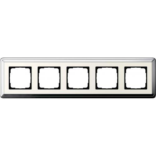 Рамка 5-постовая Gira ClassiX хром/кремовый 0215643