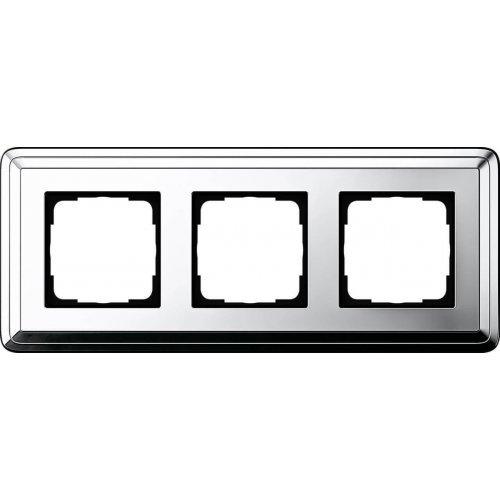 Рамка 3-постовая Gira ClassiX хром 0213641