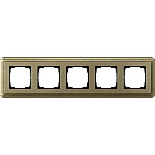 Рамка 5-постовая Gira ClassiX Art бронза 0215661