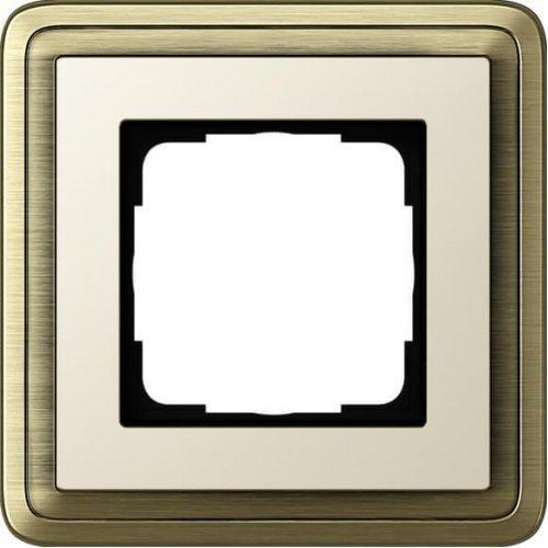 Рамка 1-постовая Gira ClassiX бронза/кремовый 0211623